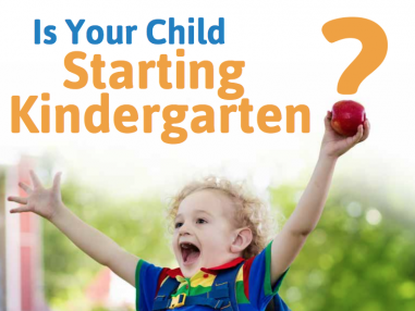 Is your child starting kindergarten?